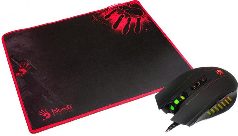 Купить Миша A4tech Bloody Q81 Black with mouse pad (Q8181S Bloody)
