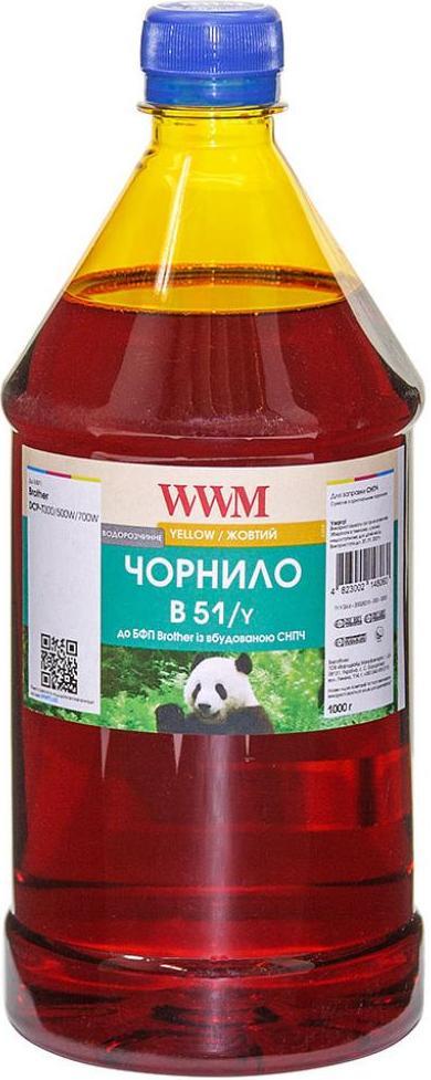 Купить Чорнило WWM Brother DCP-T300/T500W/T700W 1000g Yellow, B51/Y-4