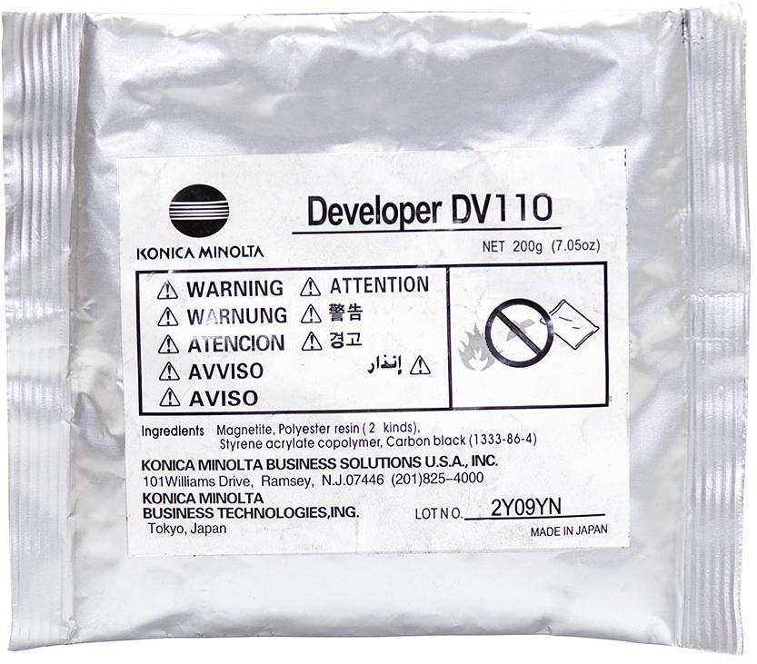 Купить ЗІП для принтерів, копірів, Девелопер АНК for Konica Minolta 162/163, DV-110 OEM 200g, 1401435