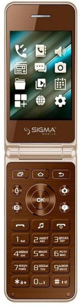 Купить Мобільний телефон SIGMA X-Style 28 Flip Gold Mokka