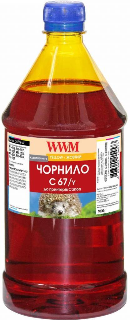 Купить Чорнило WWM for Canon IPF-107Y Yellow 1000g (C67/Y-4)