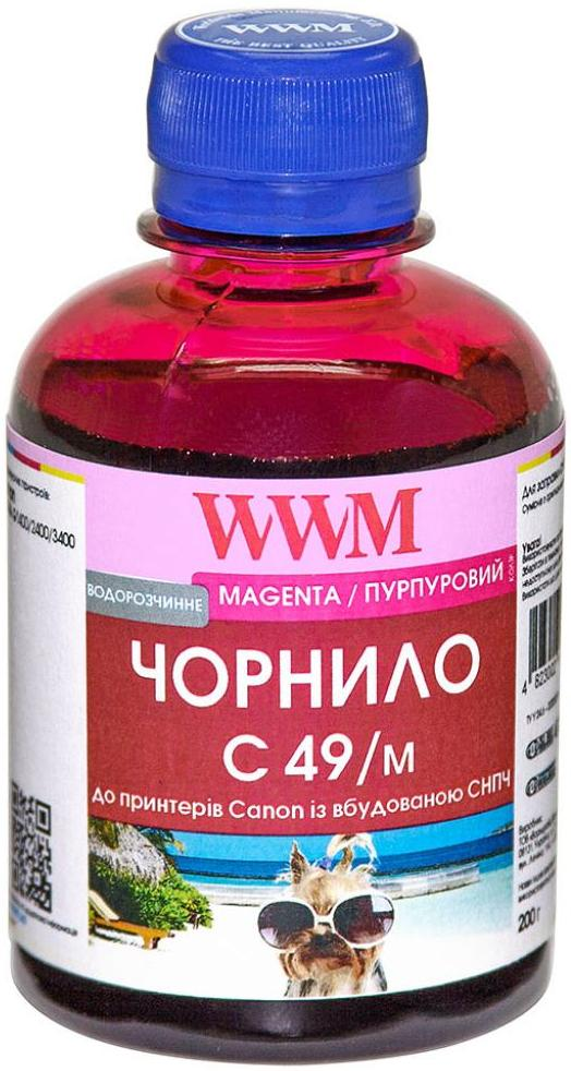 Купить Чорнило WWM for Canon Pixma G1400/2400/3400 - Magenta 200g (C49/M)