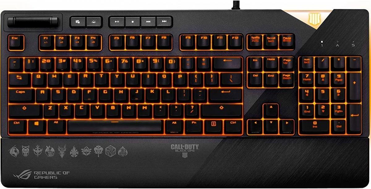 Купить Клавіатури, комплекти, Клавіатура ASUS Rog Strix Flare MX Cherry Brown (90MP00M1-B0UA02)