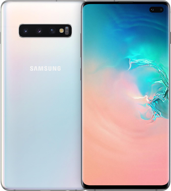 Купить Мобільні телефони, Смартфон Samsung Galaxy S10 Plus 8/128GB SM-G975FZWDSEK Prism White