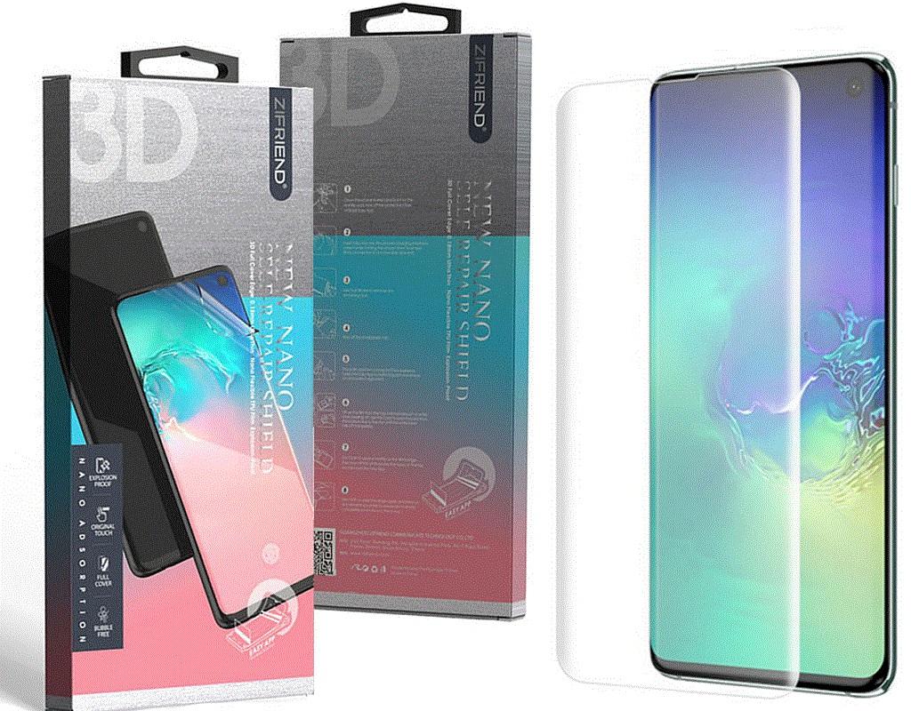 Купить Аксесуари для мобільних телефонів, Захисна плівка ZIFRIEND for Samsung Galaxy S10 SM-G973 - Full Cover Curved Edge Crystal Clear (703682)