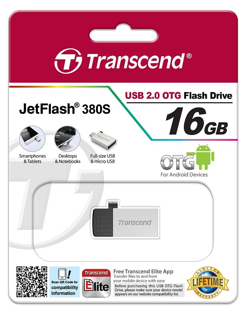 Купить Флешка USB Transcend JetFlash 380 16GB TS16GJF380S Silver