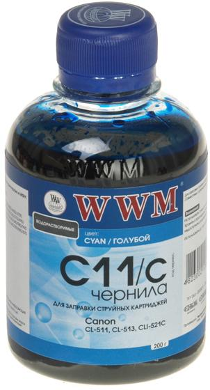 Купить Чорнила WWM CANON CL-511/513/CLI521/CLI426 200 г. Cyan (C11/C), C11/C_200g