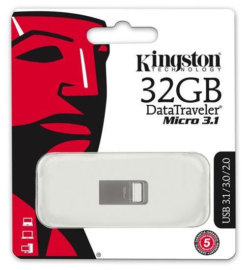 Купить Флешка USB Kingston DT Micro 3.1 32 ГБ (DTMC3/32GB)