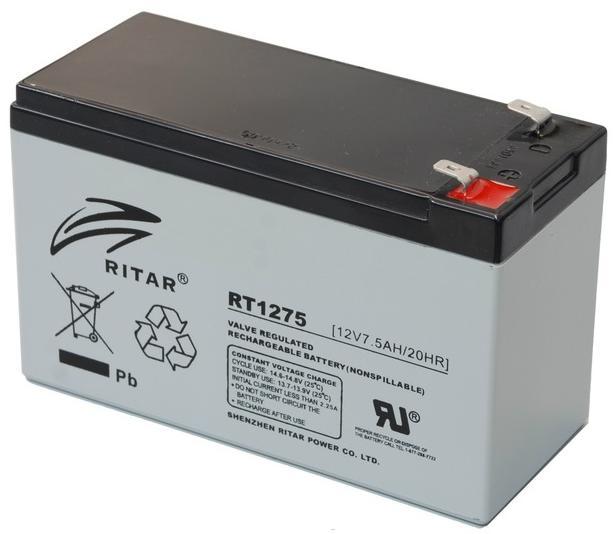 Купить Батарея для ПБЖ Ritar RT1275 12V-7, 5AH біла, AGM RT1275