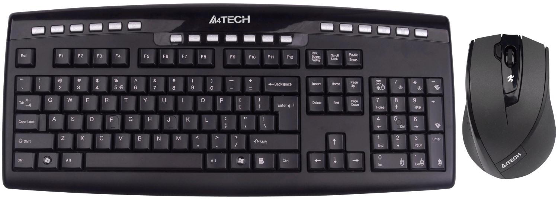 Купить Комплект клавіатура+миша A4tech 9200F чорна, 9200F B