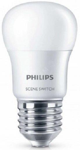Купить Лампа світлодіодна Philips Scene Switch 2Step E27 6.5-60W 3000K 230V P45, 929001209307