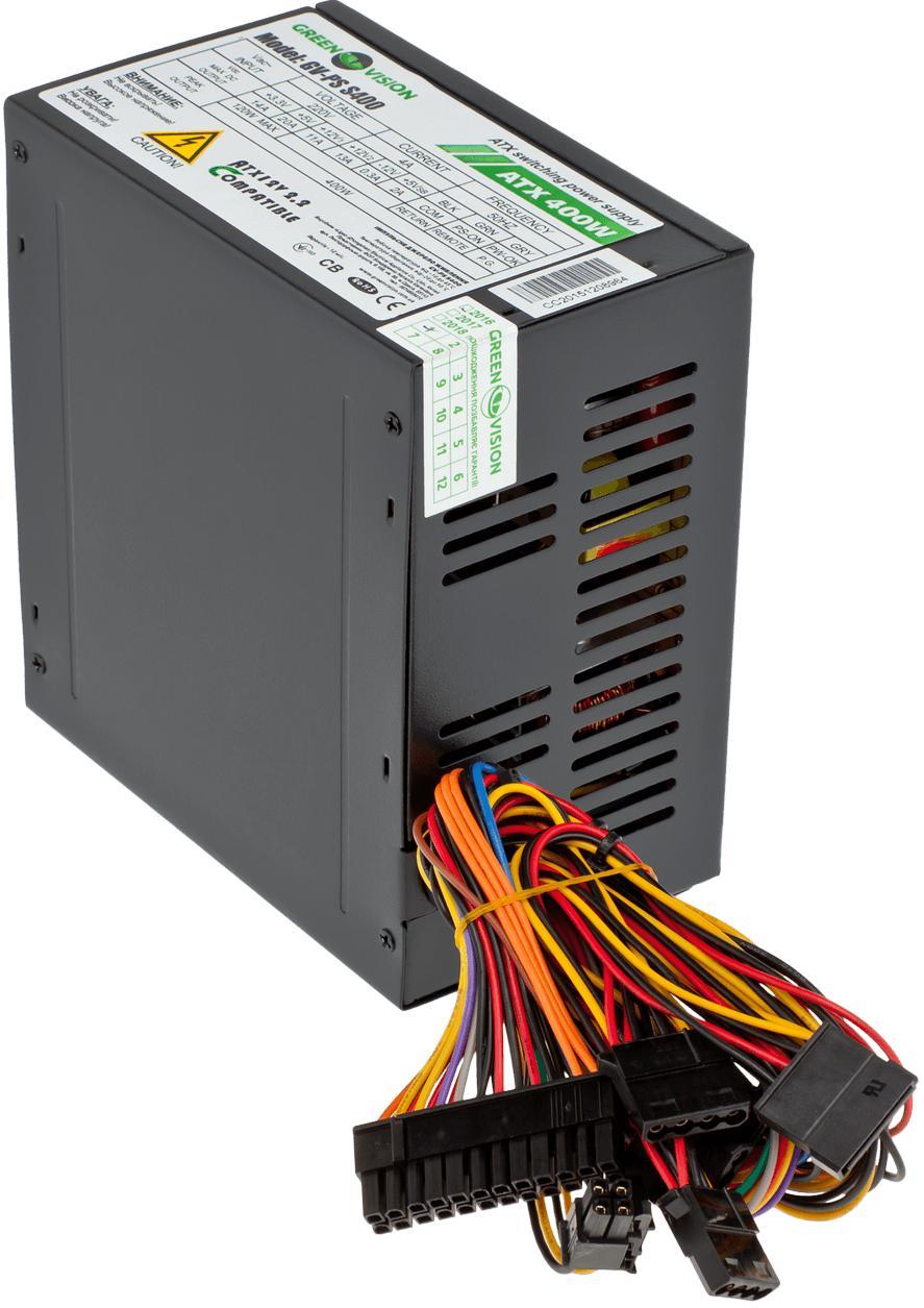 Купить Блоки живлення для ПК, Блок живлення Logicpower GV-PS S400/8 400W (GV-PS ATX S400/8 black)