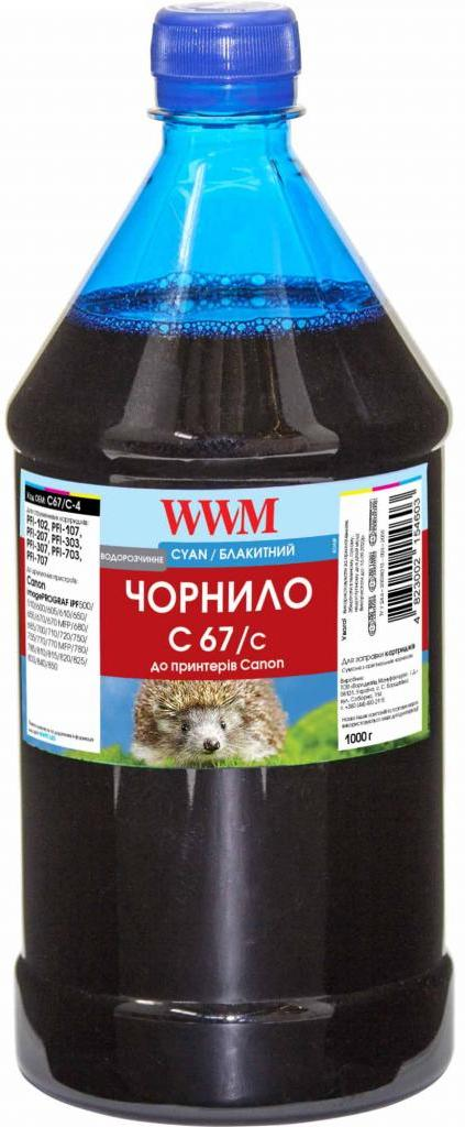 Купить Чорнило WWM for Canon IPF-107С - Cyan 1000g (C67/C-4)