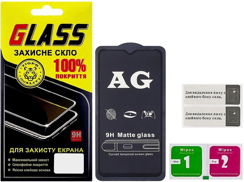 Купить Аксесуари для мобільних телефонів, Захисне скло Masterclub Plus 2.5D for Samsung A105 / M105 2019 - Full Glue Matte Black (21311)