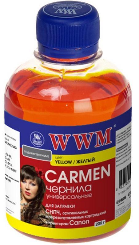 Купить Чорнило WWM CU/Y Universal CARMEN Canon жовте, CU/Y_200g