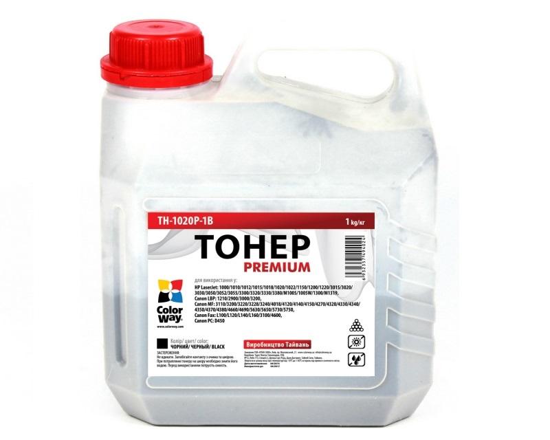 Тонер Colorway HP LJ 1000/1010/1200/2100/AX, TH-1020P-1B  - купить со скидкой