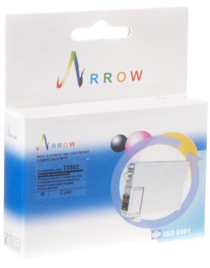 Купить Картридж Arrow T0802 Epson Stylus Photo P50, PX660, PX720WD, PX820FWD блакитний