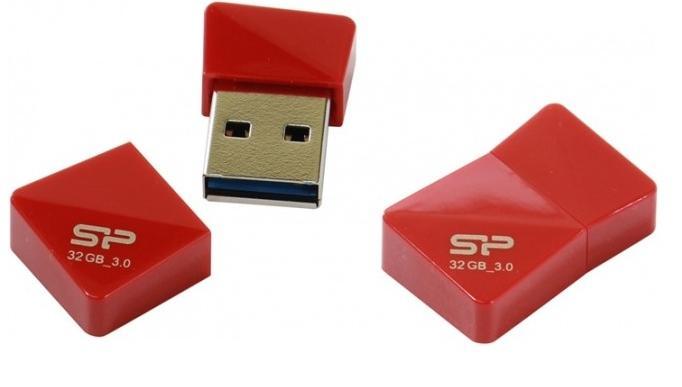 Купить Флешка USB Silicon Power Jewel J08 32GB SP032GBUF3J08V1R Red
