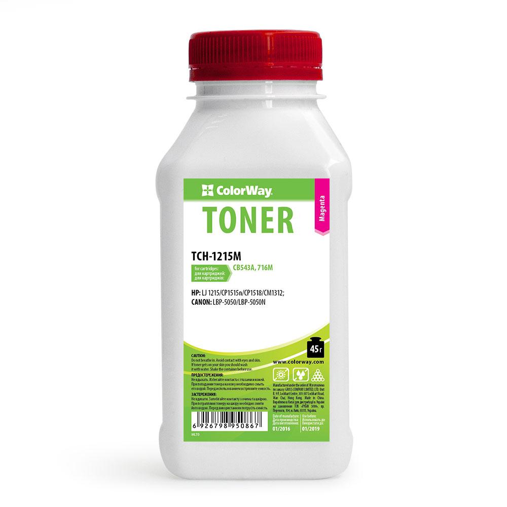 Купить Тонер ColorWay HP CLJ CP1215/1515 малиновий, TCH-1215M
