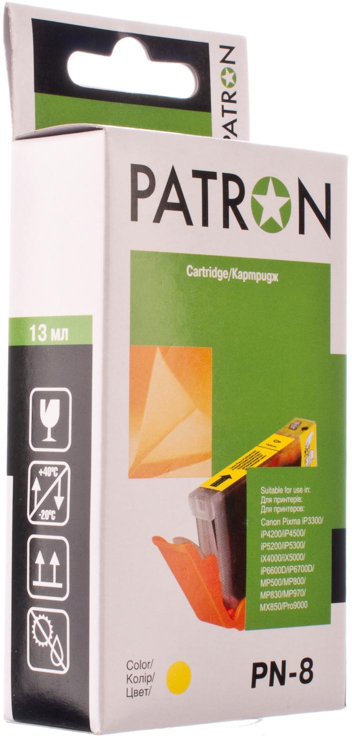 Купить Картридж Patron Canon CLI-8Y жовтий, CI-CAN-CLI-8-Y1-PN