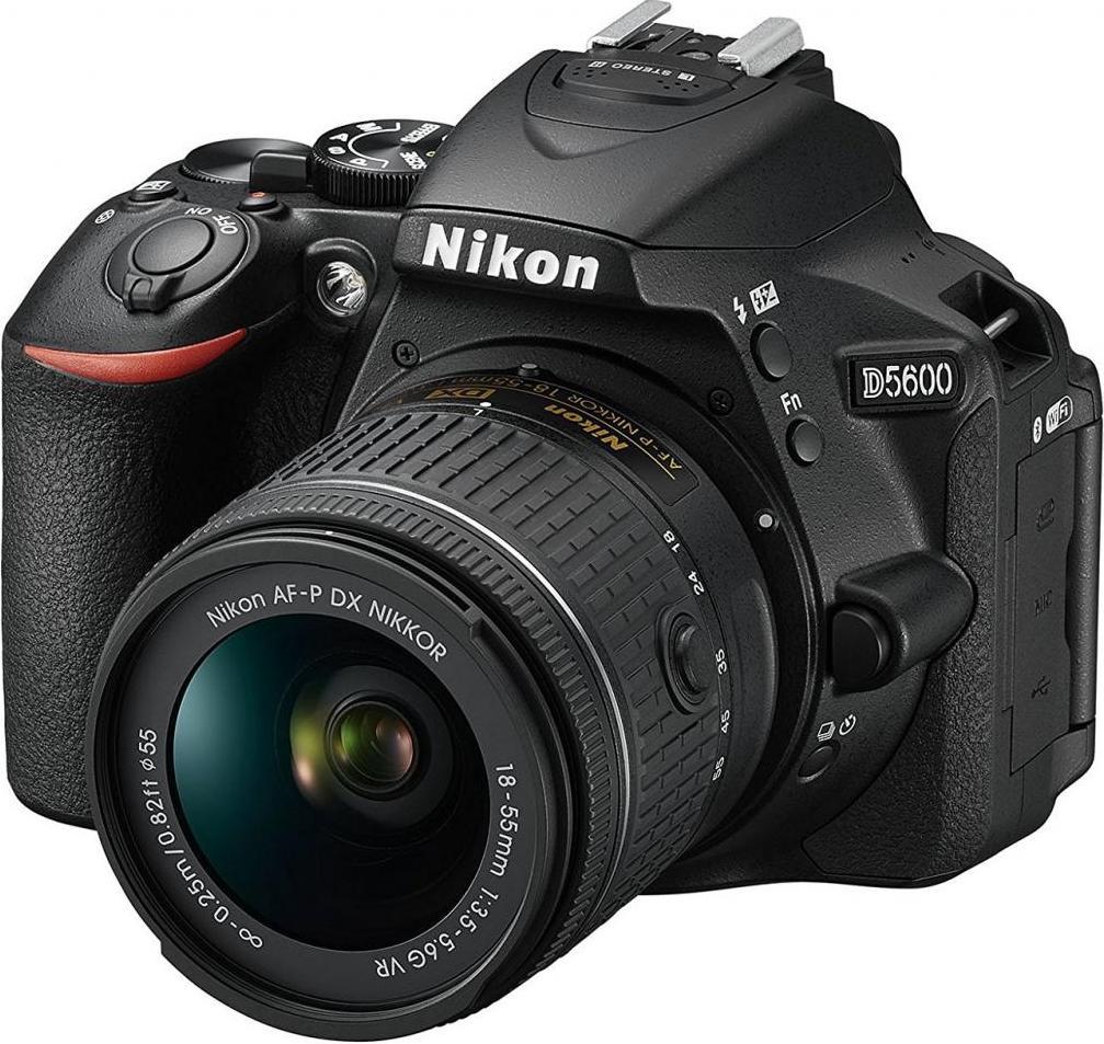 Купить Цифрова фотокамера дзеркальна Nikon D5600 kit 18-55 мм VR AF-P, VBA500K001