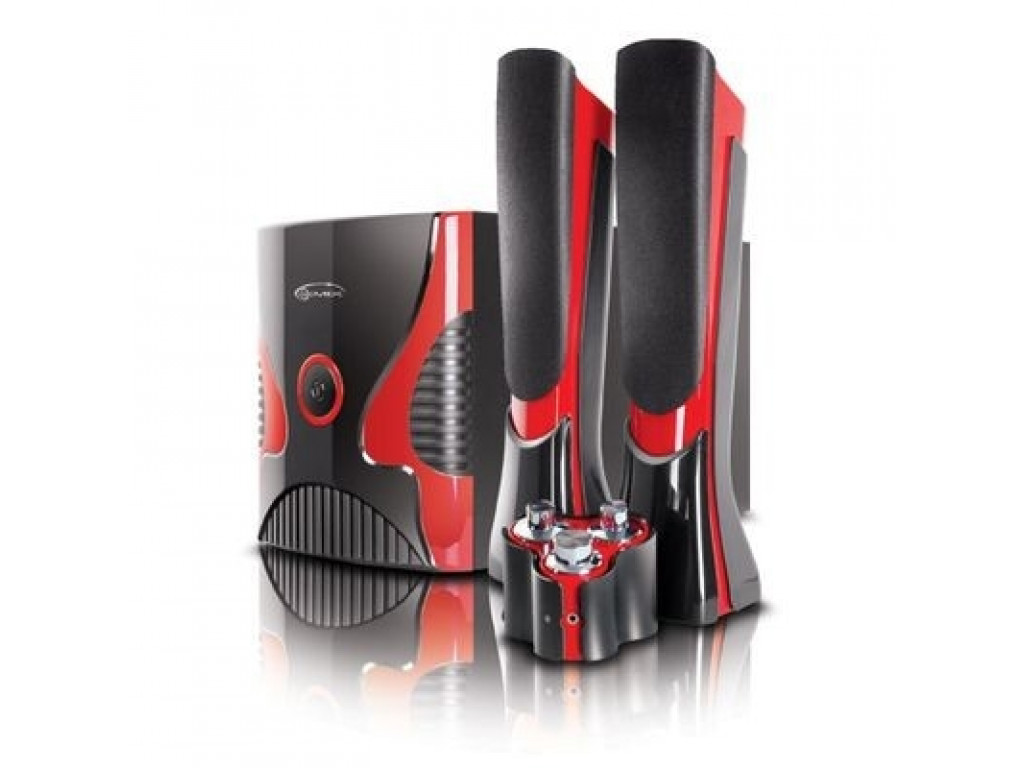 Купить Акустична система Gemix (2.1) SB-75 (30Вт+2х15Вт) Чорна/Червона, SB-75 Black/Red