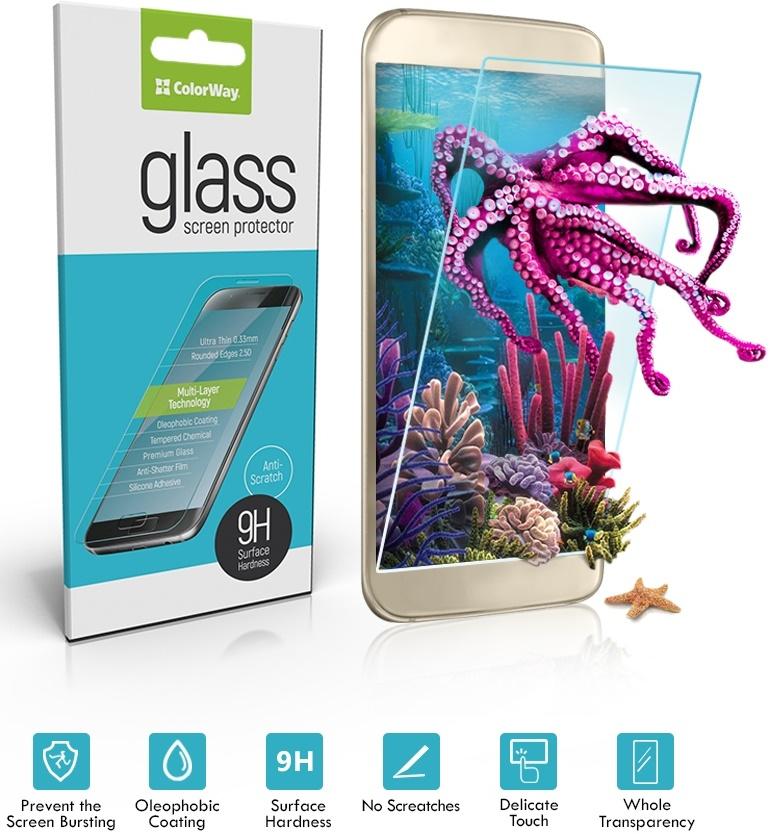 Купить Аксесуари для мобільних телефонів, Захисне скло ColorWay 9H для Motorola MOTO G4 (XT1622), CW-GSREMGXT1622