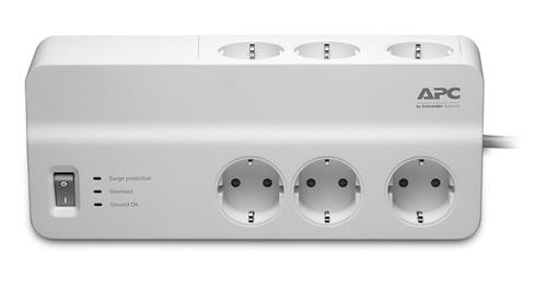 Купить Мережевий фільтр APC Essential SurgeArrest 2/6 White (PM6-RS)