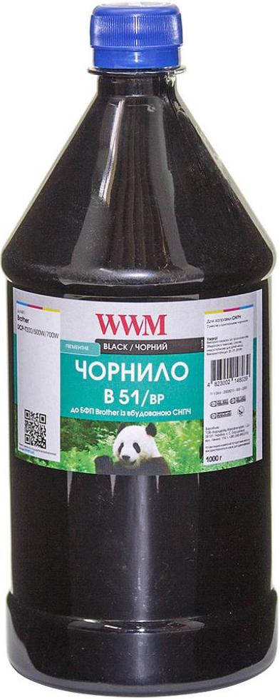 Купить Чорнило WWM Brother DCP-T300/T500W/T700W 1000g Black, B51/BP-4