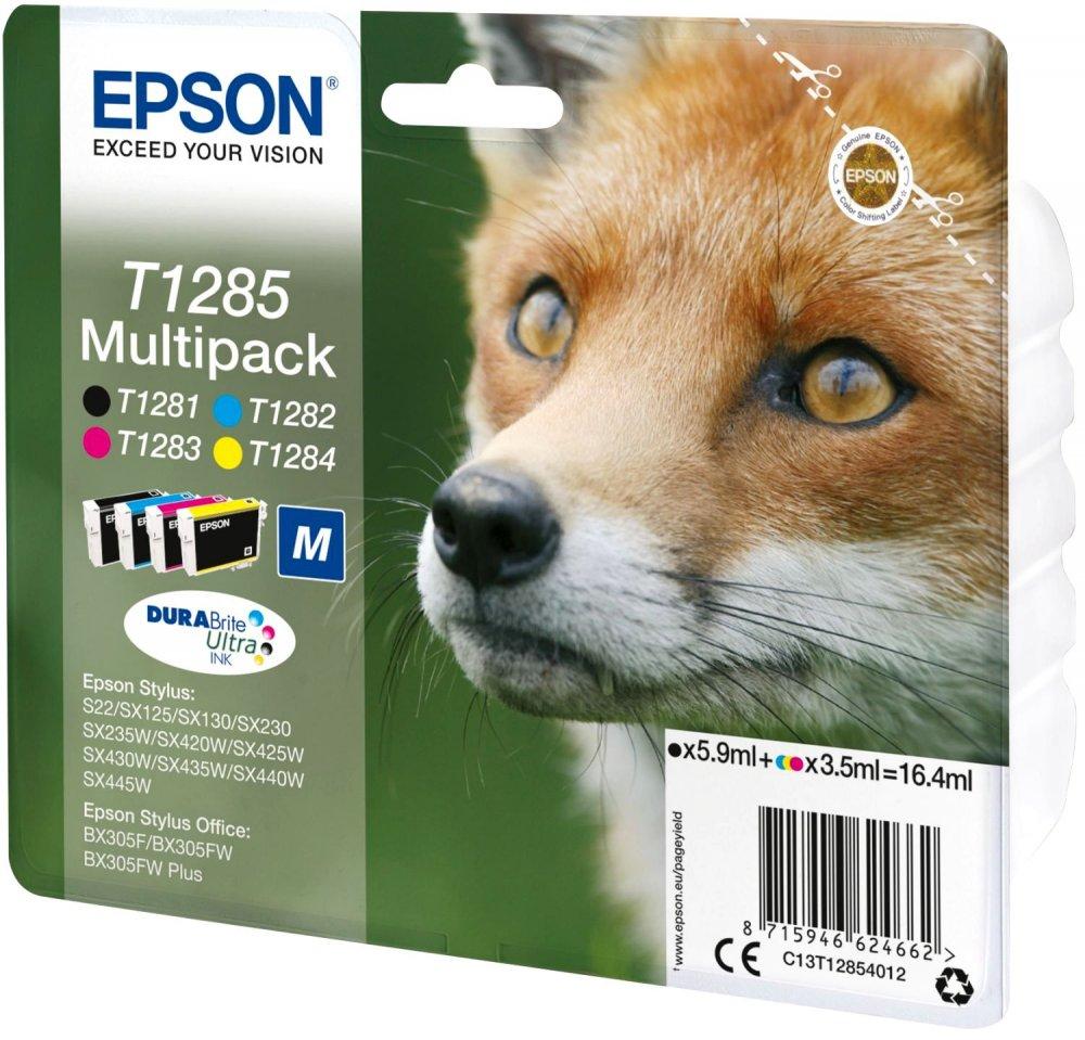 Купить Картридж Epson Stylus SX125/SX420W/425W Bundle (Bk/C/M/Y) new, C13T12854012