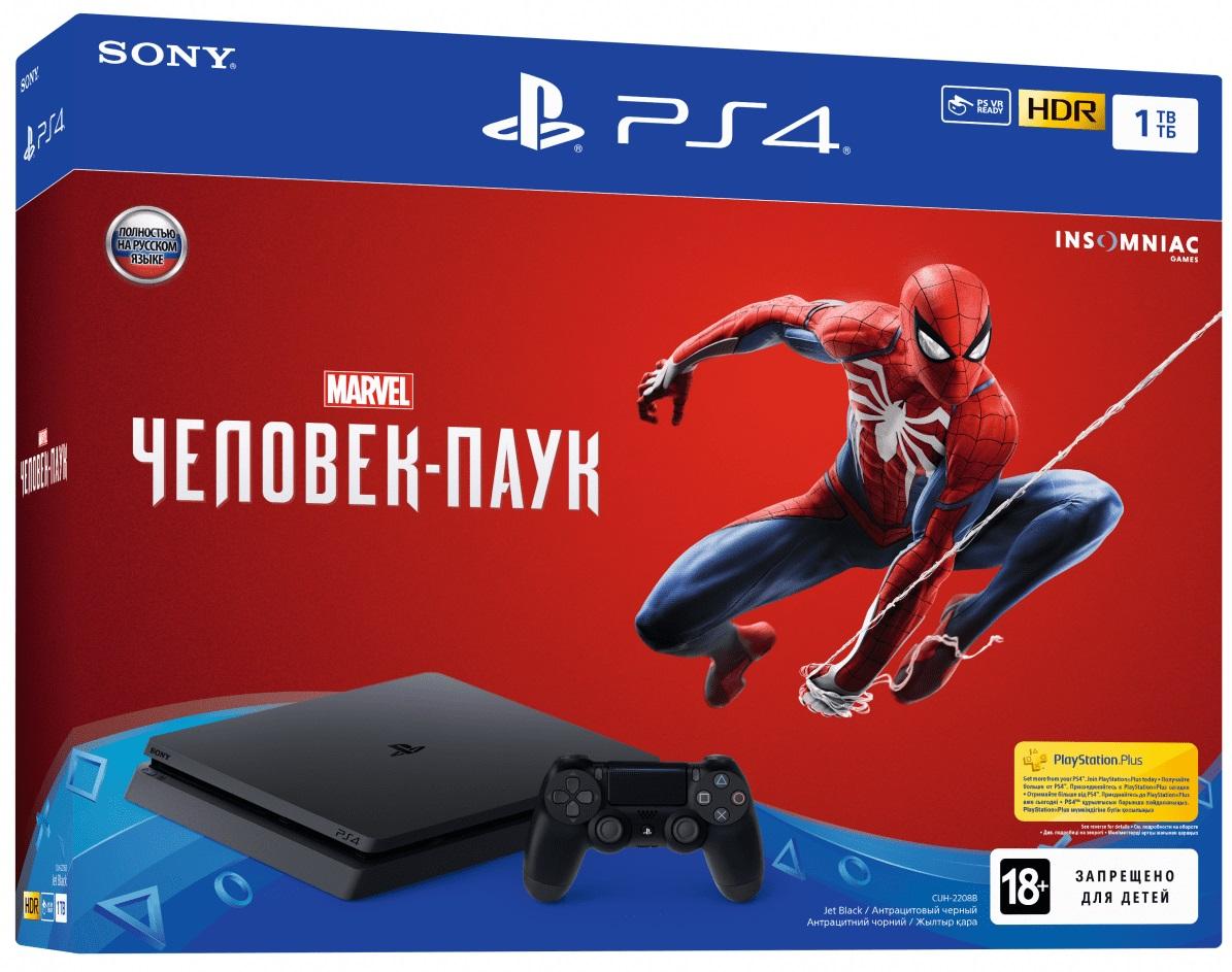 Купить Ігрова приставка Sony PlayStation 4 Slim 1Tb Black (Spider-Man), 9763215
