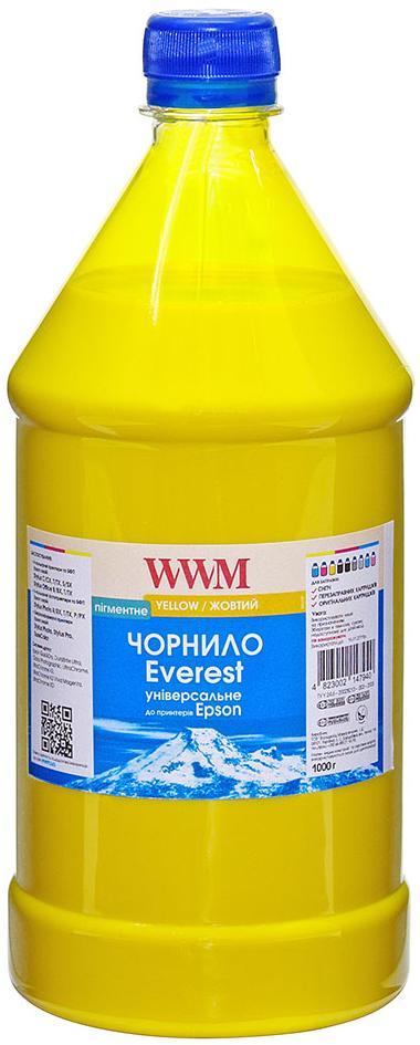 Купить Чорнило WWM for Epson Everest (Yellow Pigmented) 1000g (EP02/YP-3)