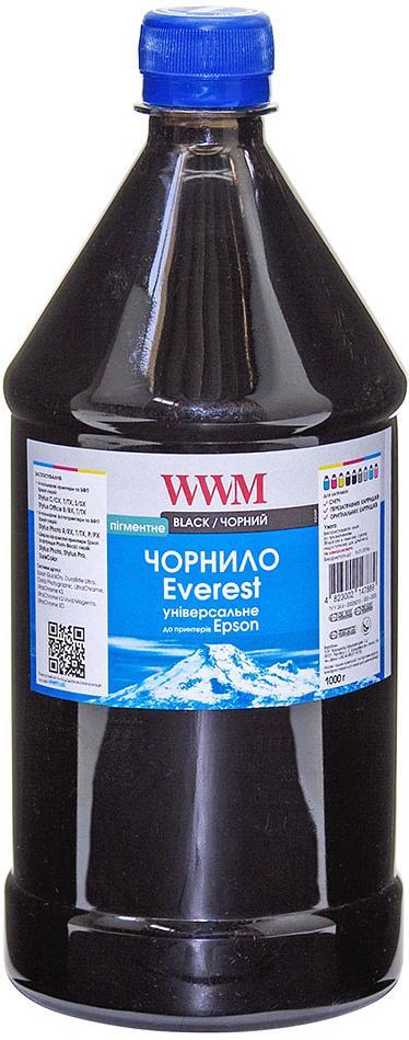 Купить Чорнило WWM for Epson Everest (Black Pigmented) 1000g (EP02/BP-3)
