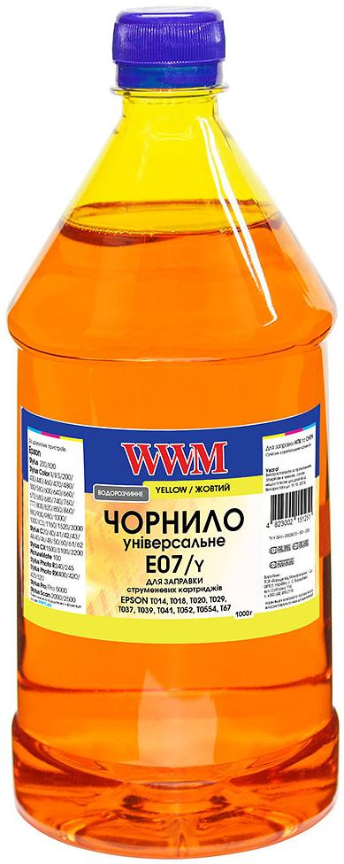 Купить Чорнило WWM for Epson Stylus C42/C48/C62 Yellow 1000g (E07/Y-4)