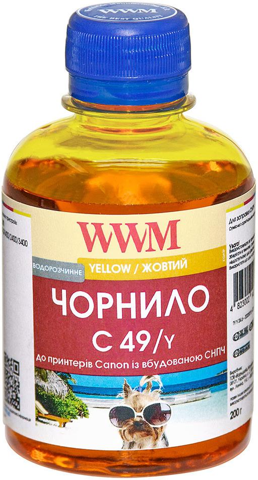 Купить Чорнило WWM for Canon Pixma G1400/2400/3400 - Yellow 200g (C49/Y)