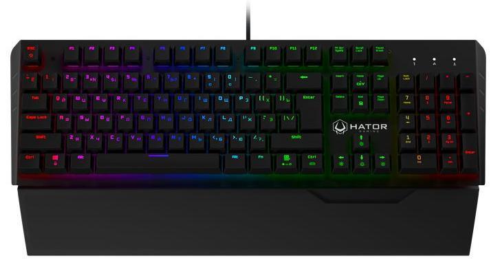 Купить Клавіатура Hator Earthquake Kailh Optical Black Switches Black (HTK-703)