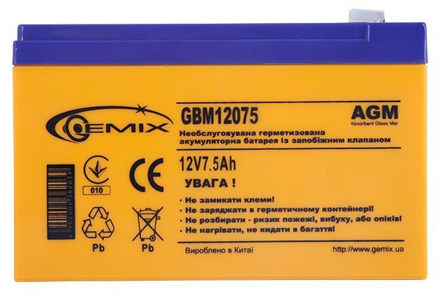 Купить Батарея для ПБЖ Gemix GBM12075