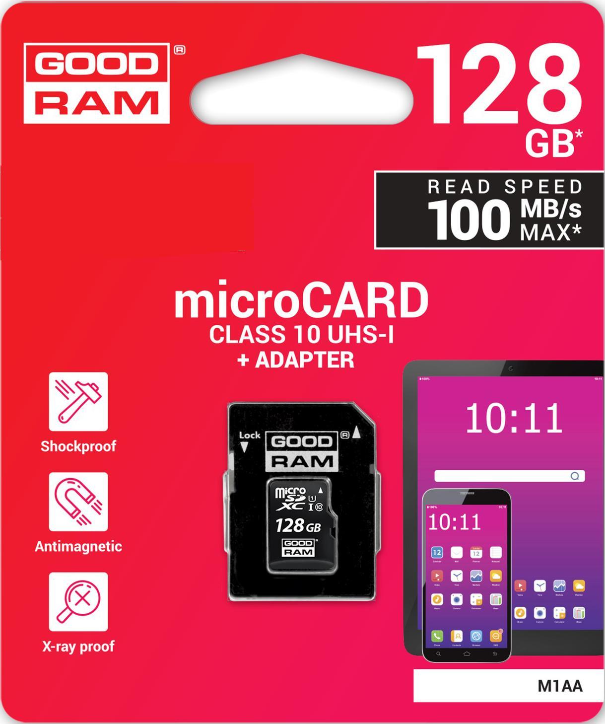 Купить Карта пам'яті GOODRAM Micro SDXC 128GB M1AA-1280R12