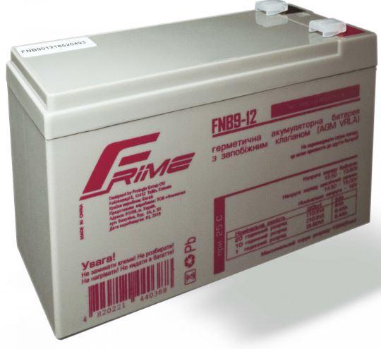Купить Батареї для ПБЖ (UPS), Батарея для ПБЖ Frime FNB9-12 AGM