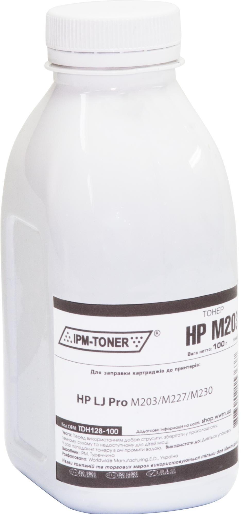 Купить Тонер IPM for HP LJ Pro M203/M227/M230 Black бутль 100g, TDH128-100