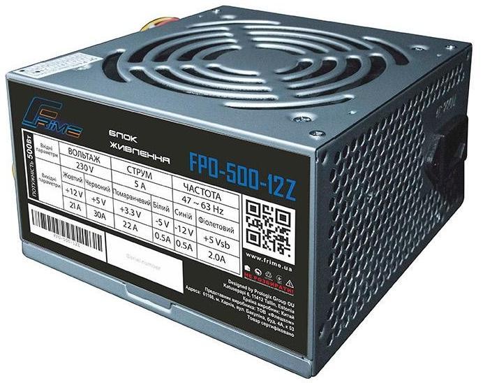 Купить Блоки живлення для ПК, Блок живлення Frime FPO-500-12Z 500W
