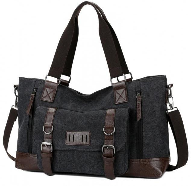 Купить Сумки, наплічники для ноутбуків, Дорожня сумка Manjian Manjian Retro 1324 Black (Сумка Manjian Retro 1324 Black)