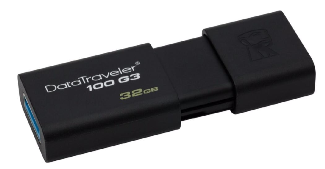 Купить Флешка USB Kingston DataTraveler 100 G3 32ГБ (DT100G3/32GB)