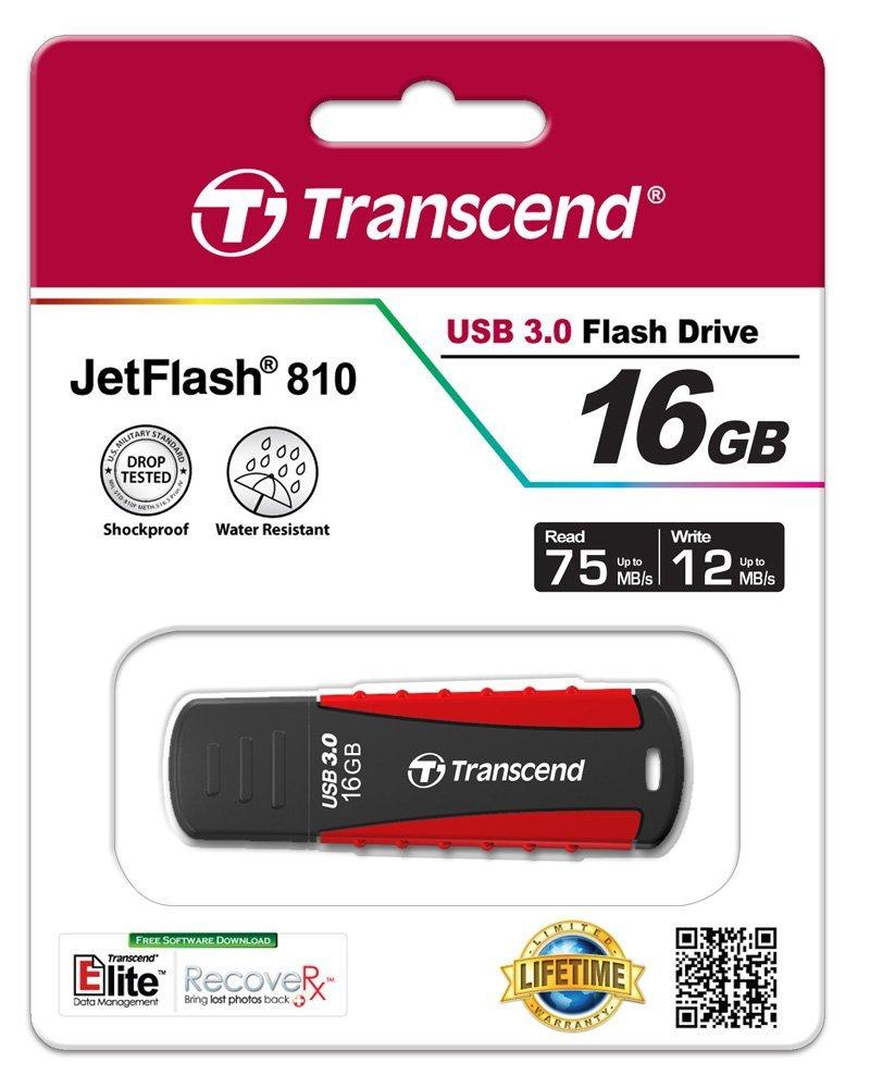 Купить Флешка USB Transcend JetFlash 810 16GB TS16GJF810 Red