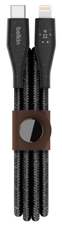 Купить USB кабелі та розгалужувачі, Кабель Belkin DuraTek Plus CM/Lightning 1.2m Black (F8J243BT04-BLK)