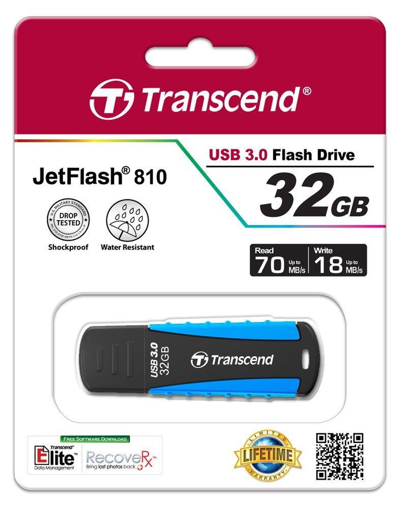Купить Флешка USB Transcend JetFlash 810 32GB TS32GJF810 Light Blue