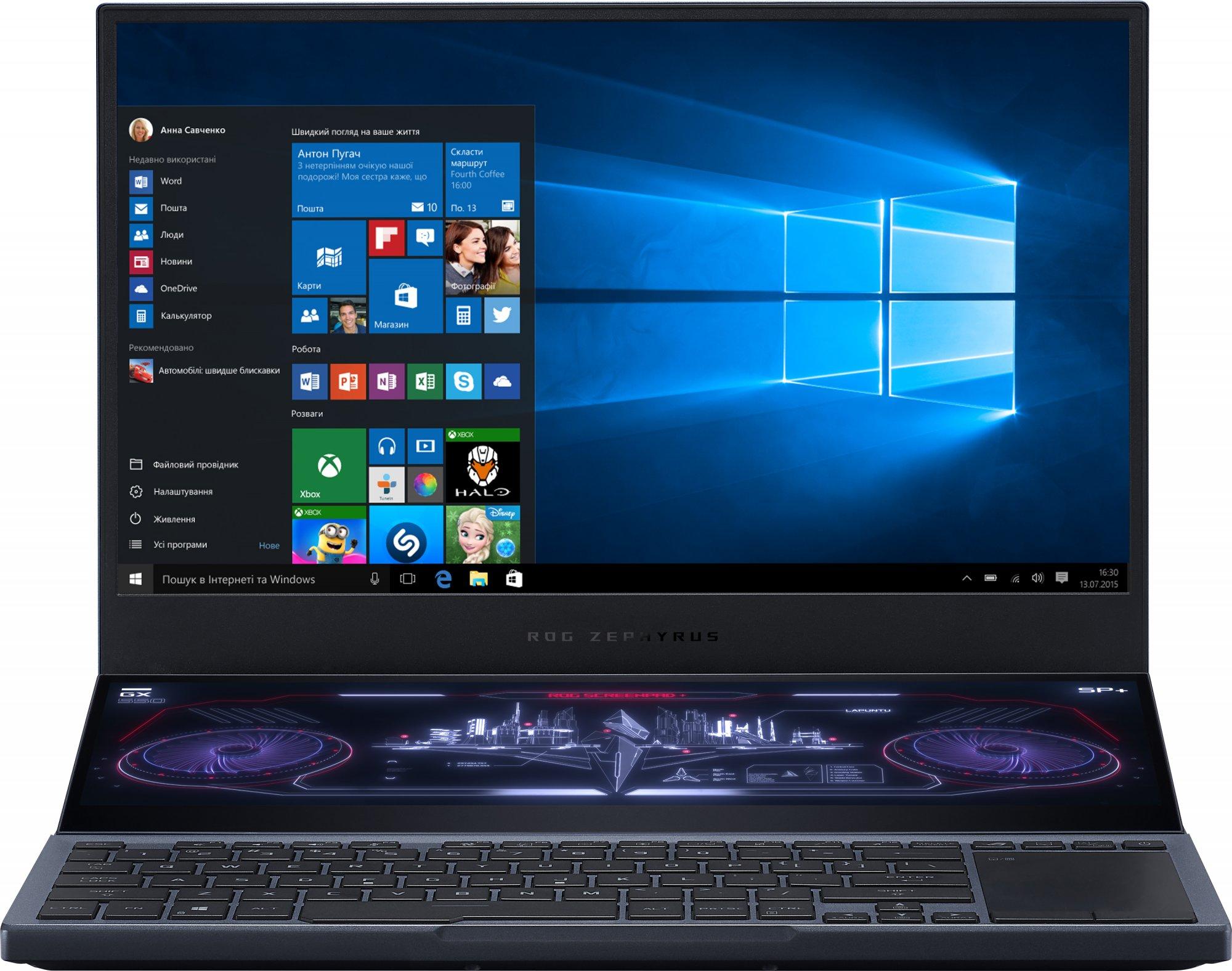 Купить Ноутбуки, Ноутбук ASUS ROG Zephyrus Duo 15 GX550LWS-HF101T Gunmetal Gray