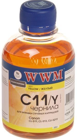Купить Чорнила WWM CANON CL-511/513/CLI521/CLI426 200 г. Yellow (C11/Y), C11/Y_200g