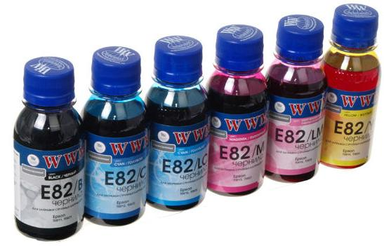 Купить Комплект чорнил WWM E82SET Epson Stylus Photo P50 / R270 / R290 / RX615 / T50 / TX650 кольоровий, E82SET-2