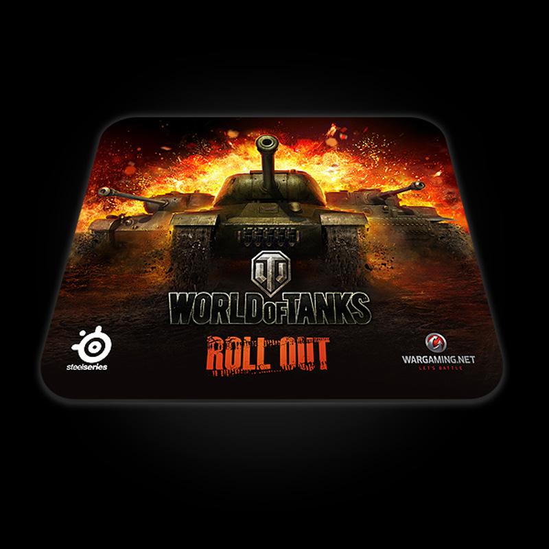 Килимок SteelSeries QcK World of Tanks Edition (67269) чорно-помаранчевий